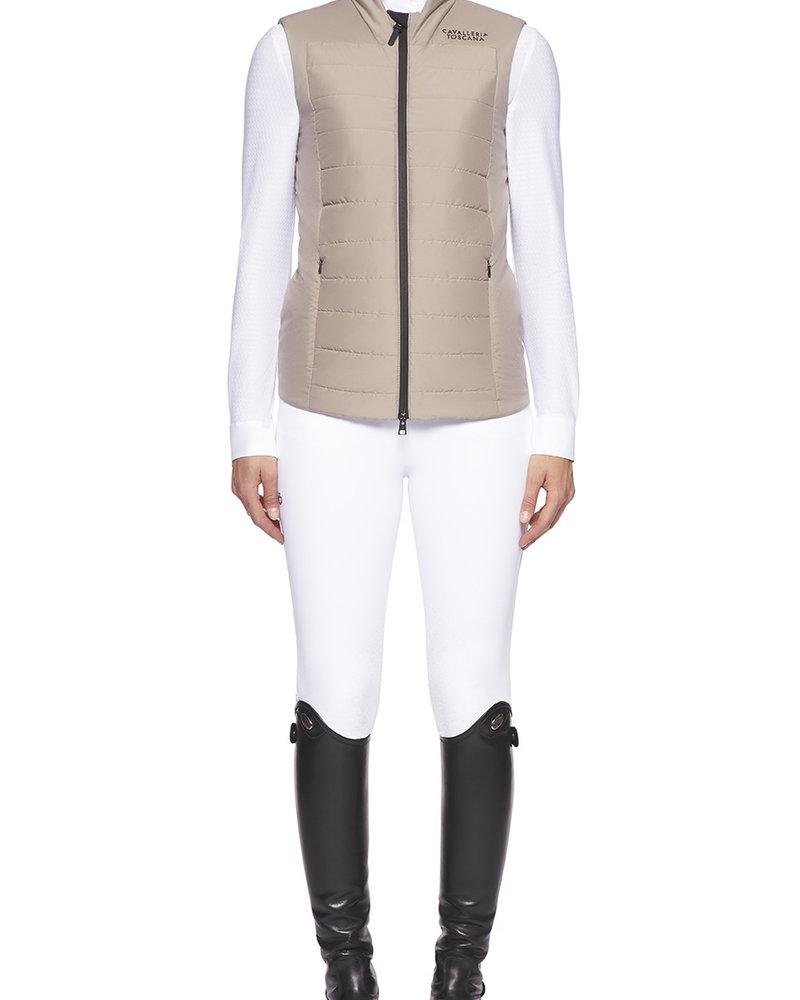 Cavalleria Toscana CT P&P Quilted Puffer Vest Beige