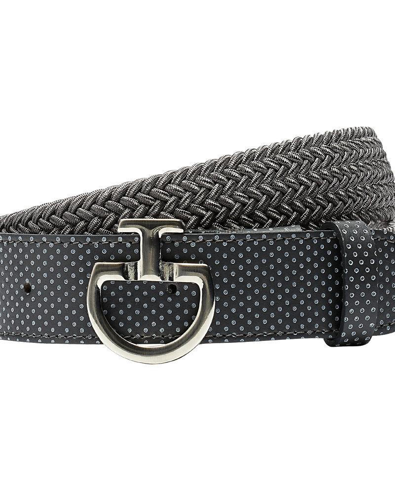 Cavalleria Toscana CT Women's Elastic Belt Perf. Leather Gray