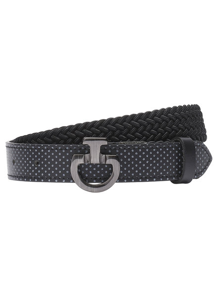 Cavalleria Toscana Young Rider Elastic Belt Perf. Leather Black