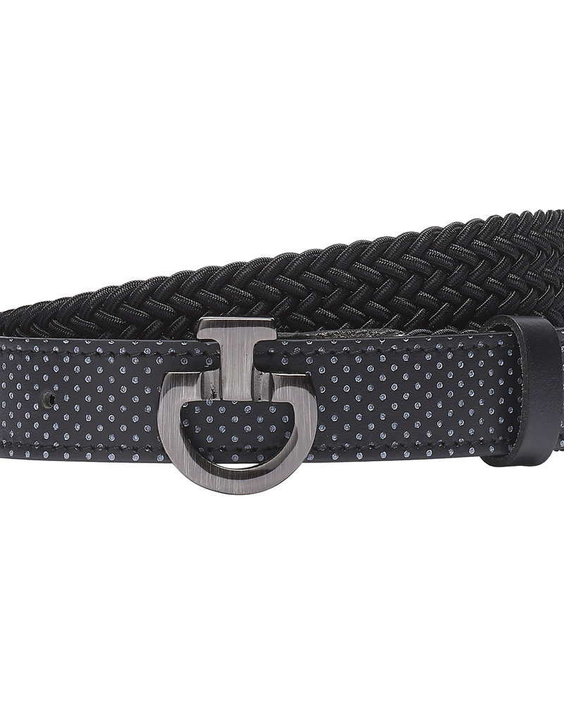 Cavalleria Toscana CT Young Rider Elastic Belt Perf. Leather Black