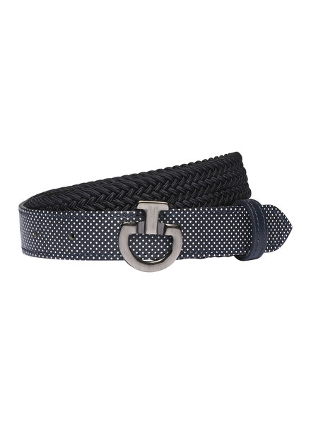 Cavalleria Toscana Young Rider Elastic Belt Perf. Leather Navy