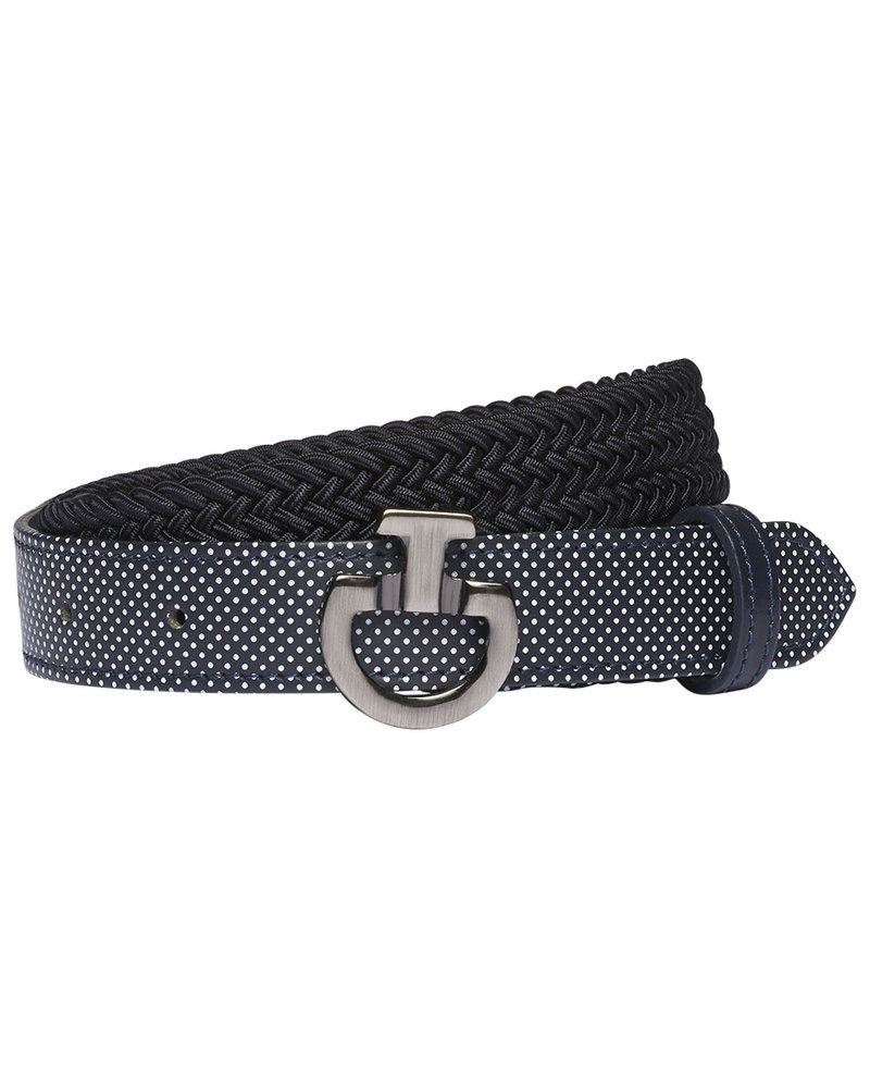 Cavalleria Toscana CT Young Rider Elastic Belt Perf. Leather Navy