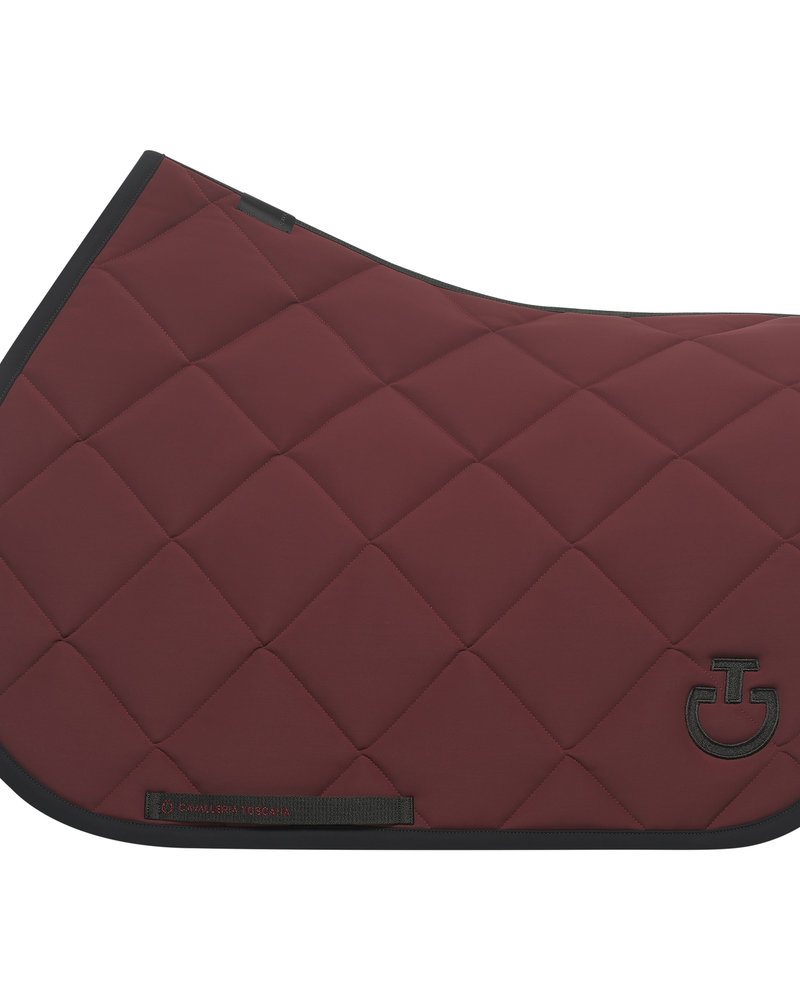 Cavalleria Toscana CT Jersery Quilted Rhombi Jumping Saddle Pad 3799