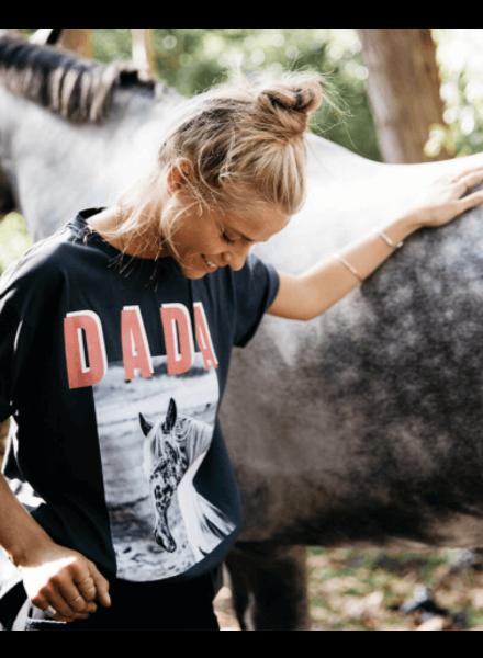 DADA Happiness Montana t-shirt Zwart