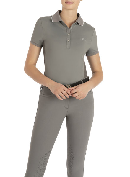 Equiline Women's Polo Ella Frost Grey