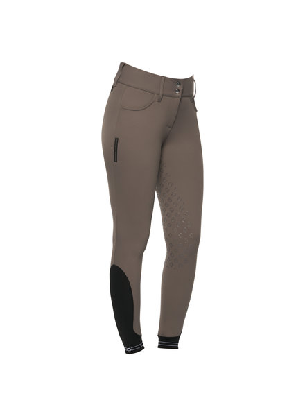 Cavalleria Toscana American Full Grip Breeches Perforated Logo Tape Taupe 8960