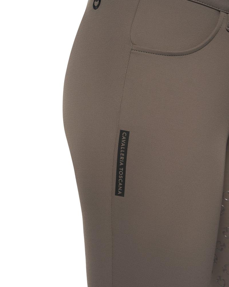 Cavalleria Toscana Cavalleria Toscana American Full Grip Breeches Perforated Logo Tape Taupe 8960
