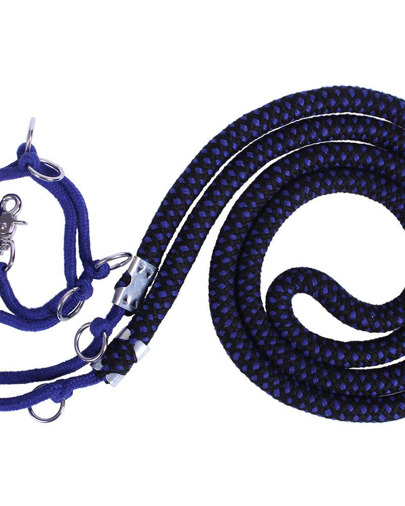 QHP QHP Longeerhulptouw Luxe Blue-Black
