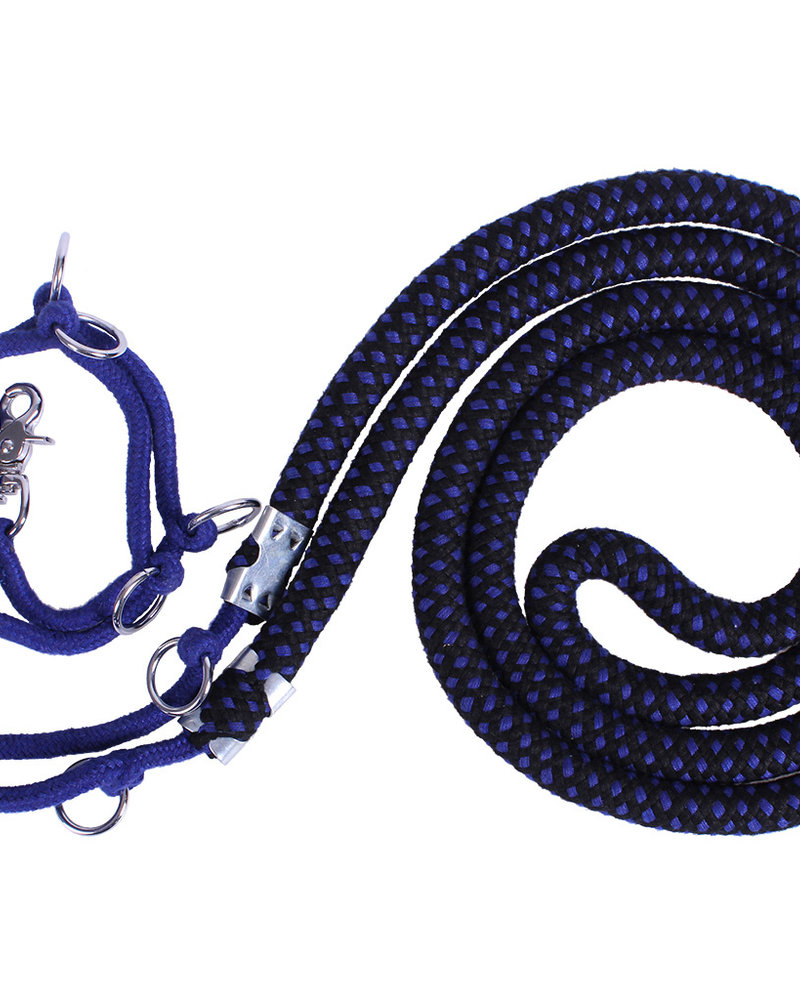 QHP QHP Lunging Aid Rope Luxe Blue-Black