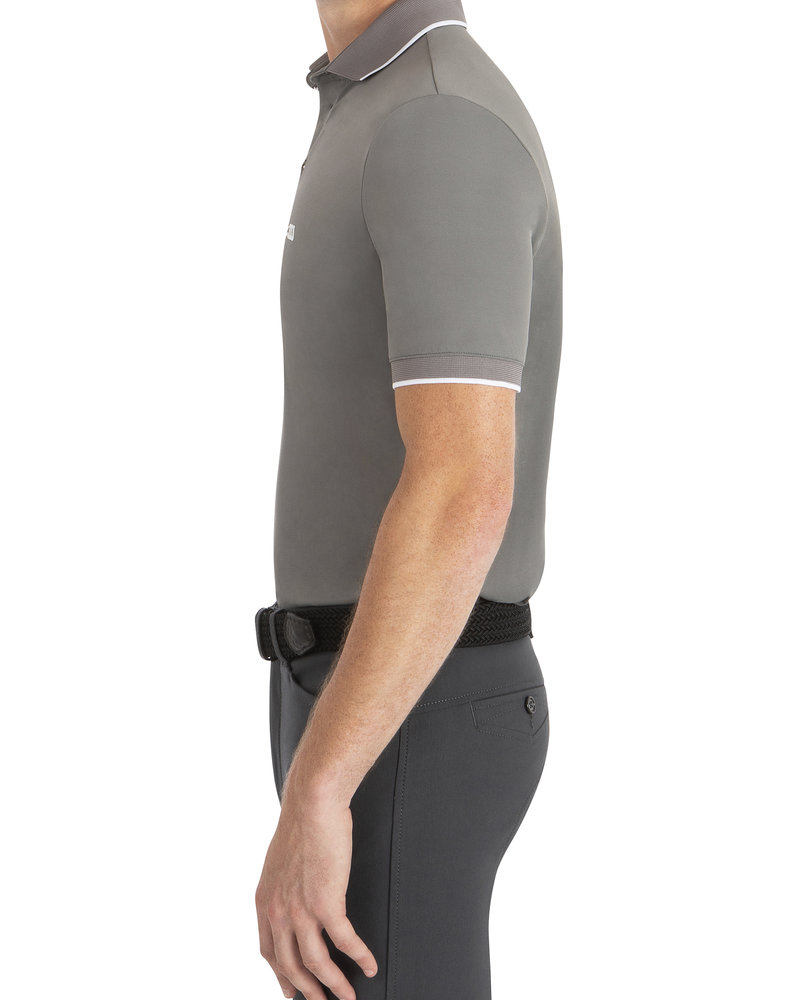 Equiline Equiline Men's Polo Ezra Frost Grey