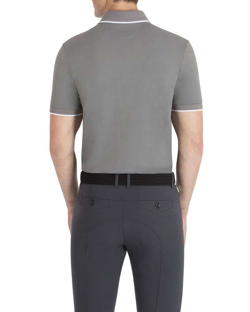 Equiline Equiline Men's Polo Ezra Frost Gray