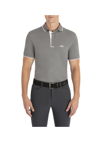 Equiline Men's Polo Ezra Frost Grey