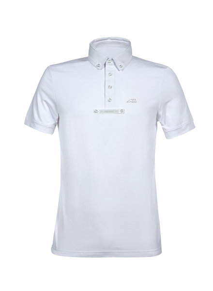 Equiline Men's Comp. Polo S / S Eldsone White