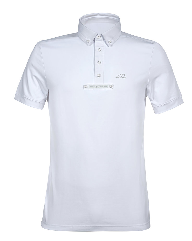 Equiline Equiline Men's Comp. Polo S / S Eldsone White