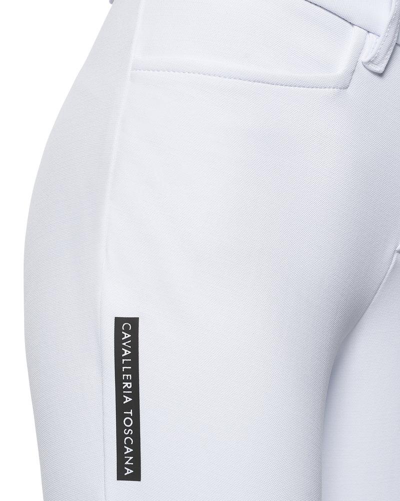 Cavalleria Toscana Cavalleria Toscana Perforated Logo Tape Full Grip Breeches White