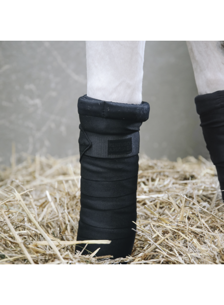 Kentucky Repellent Stable Bandages Set of 4 Black