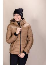 Cavalleria Toscana Shiny Matte Nylon Hooded Puffer 4100