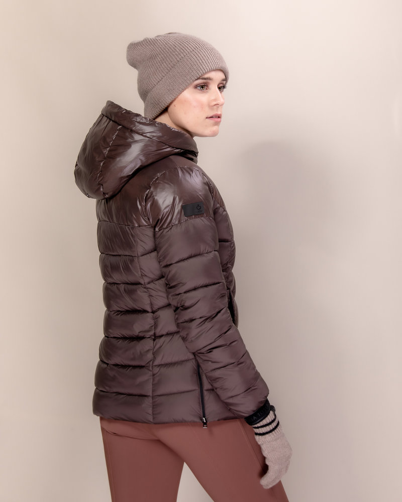Cavalleria Toscana Cavalleria Toscana Shiny Matte Nylon Hooded Puffer 4800