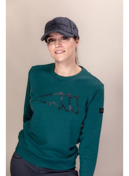 Equiline Women's Sweatshirt Graneg Green