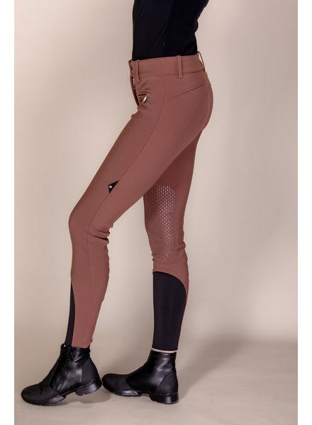 Equiline Women's Knee Grip Breeches Cirek Chocolate Lab