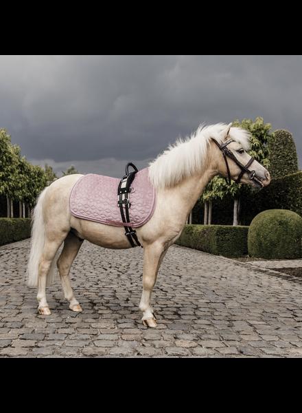 Kentucky Saddle Pad Velvet Pony Old Pink