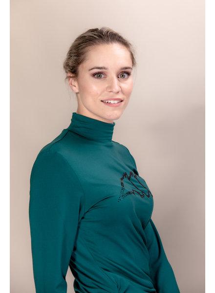 Equiline Women's Turtleneck Shirt L/S Gilaveg Green