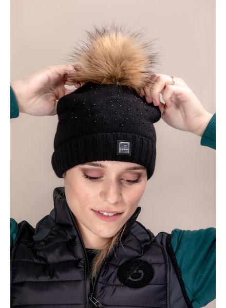 Equiline Wool Hat + Glitter Geneg Black