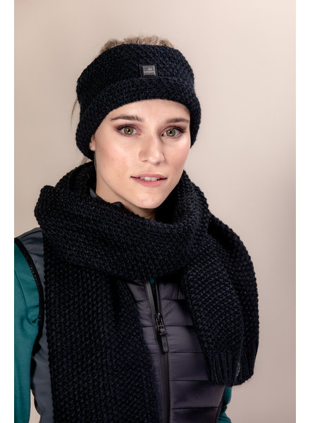 Equiline Knitted Headband Celac Black