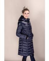 Cavalleria Toscana Shiny/Matte Nylon Hooded Long Puffer 7B00