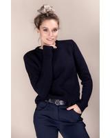 Cavalleria Toscana Eco Merinos Crew Neck Double Knit Sweater 7901