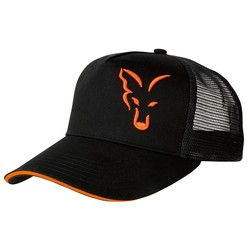 Black/Orange Trucker Cap | Pet