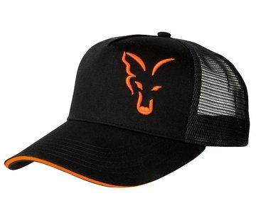 FOX Black/Orange Trucker Cap | Pet
