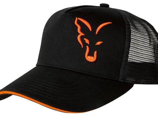 FOX Black / Orange Trucker Cap | Pet