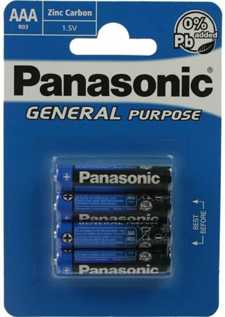 Afbeelding van Batterie Panasonic (Blue) General R03 Micro AAA (4 St.)