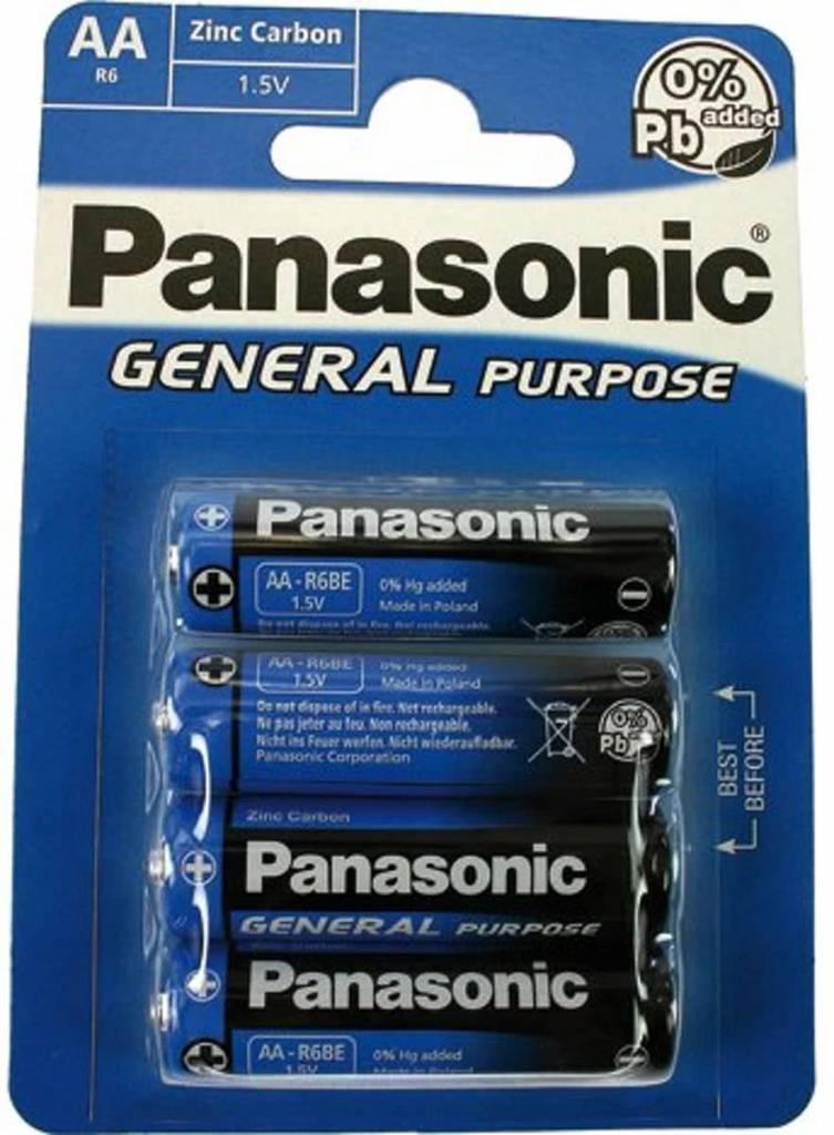 Afbeelding van Batterie Panasonic (Blau) General R6 Mignon AA (4 St.)
