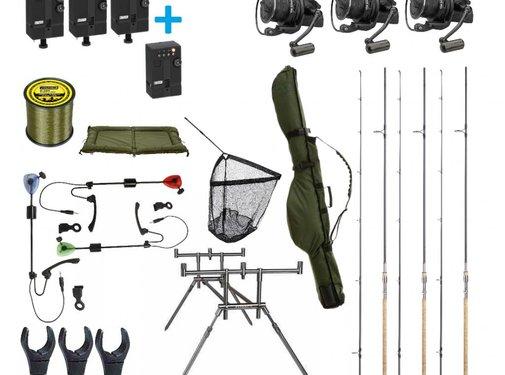 MAD Luxe complete karper set | 3 hengels | klaar om te vissen