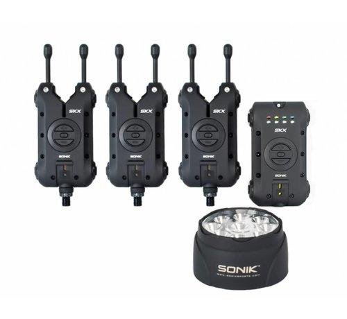 Sonik SKX 3+1 Alarm + Bivvy lamp | Beetmelder set