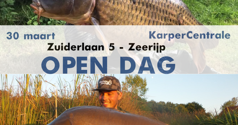 30 maart KarperCentrale open dag!