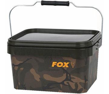 FOX Camo Square bucket | 17 liter | emmer