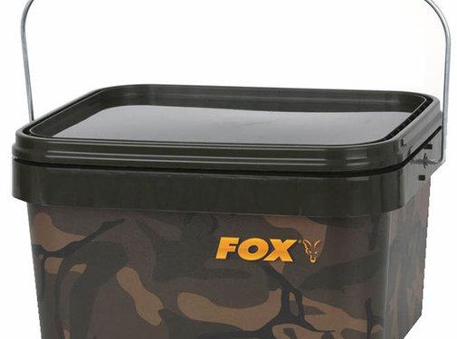 FOX Camo Square bucket   17 liter   emmer