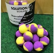 Solution Boilies Repeater PRO Duo-color pop-ups Purple 'n Yellow | 15mm | 100gr