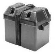 karpercentrale Zwarte accubak L4 | 350x195x230mm