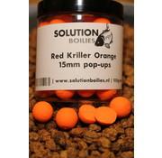 Solution Boilies Red Kriller Pop-ups orange fluo | 15mm | 250ml