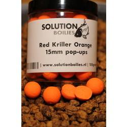 Red Kriller Pop-ups orange fluo | 15mm | 250ml