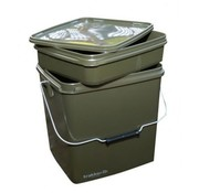 Trakker 13 Ltr Olive Square Container inc tray