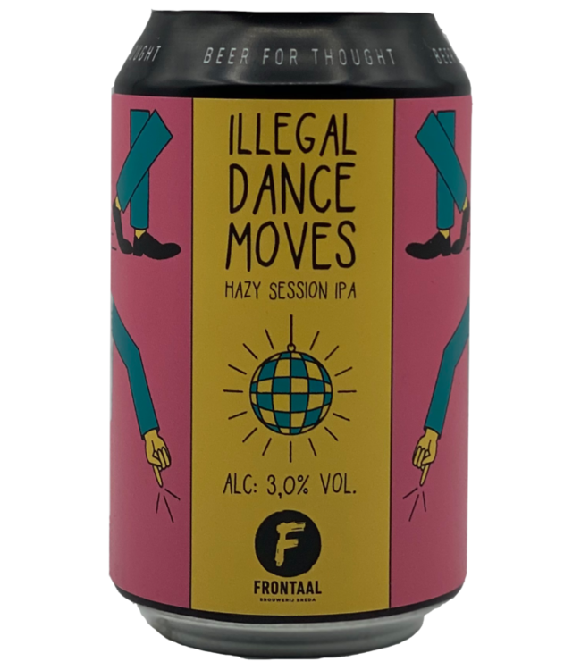 Frontaal, Illegal Dance Moves, Hazy Session IPA 3% 33cl CAN