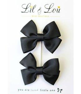 LIL & LOU | Set van 2 speldjes zwart