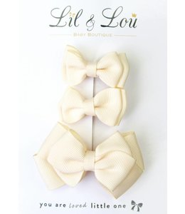 LIL & LOU | Set van 3 speldjes ivoor
