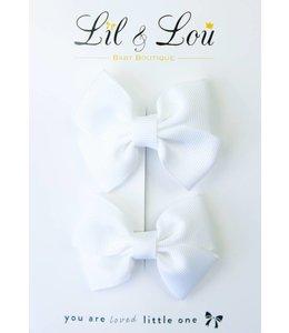 LIL & LOU | Set van 2 speldjes wit
