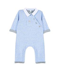 TARTINE ET CHOCOLAT | Babypakje met kraagje blauw